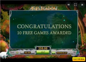 10 Free Spins - Alice in Wonderland