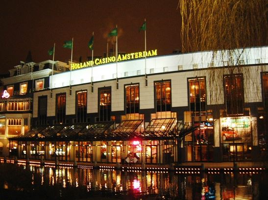 Front view of Holland Casino in Amsterdam
