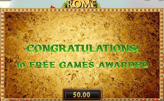 Rome Warrior 10 Free SPins