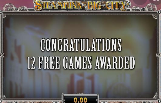 Steampunk Slot Free spins bonus
