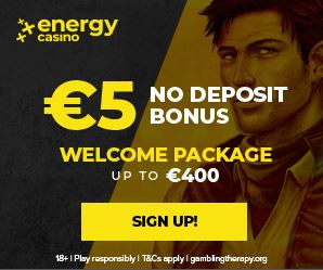 Energy casino welcome package